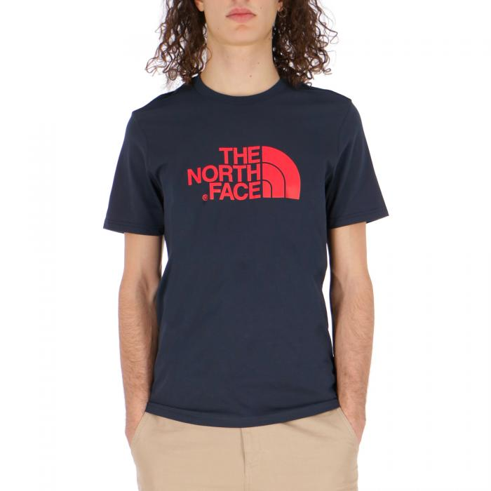 the north face t-shirt e canotte urban navy fiery red